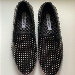 Steven Madden Rhinestone Studded Smoking slippers